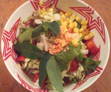 Raw vegan yummy salad