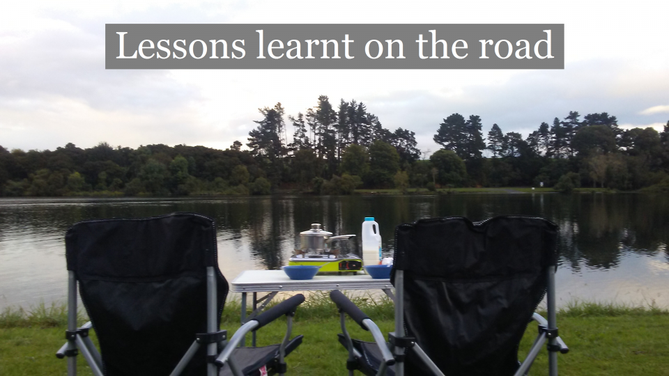 Lessons learnt on the road